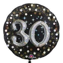 - 30 Yaş İkili Set Folyo Balon (81x81 cm)