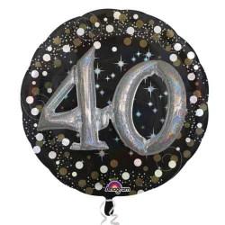 - 40 Yaş İkili Set Folyo Balon (81x81 cm)
