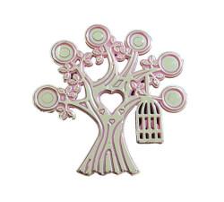 - Ağaç Dalında Kuş Kafesi Plastik Pembe
