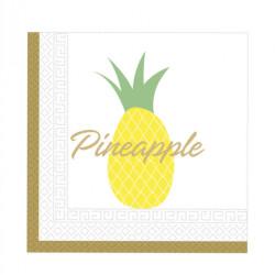 - Altın Ananas Kağıt Peçete (33x33 cm) 20'li Paket