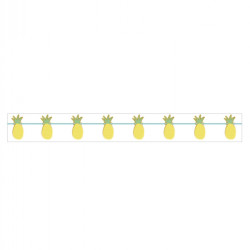 - Altın Ananas Metalik Kağıt Afiş 2,3m 1 Adet