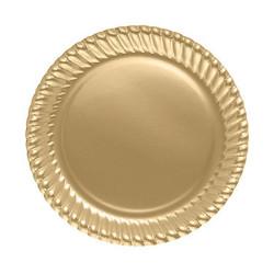- Altın Karton Tabak (23 cm) 8'li Paket