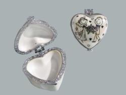 Gelin Damat Kalpli Altın Kutusu - Thumbnail