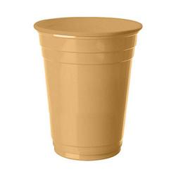 - Altın Plastik Büyük Meşrubat Bardağı (266 cc) 8'li Paket
