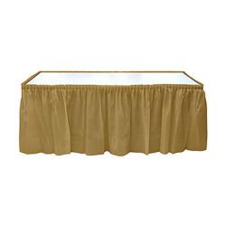 - Altın Plastik Masa Eteği (75x426 cm) 1'li Paket