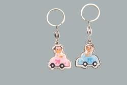 - Bebek Arabalı Pembe Anahtarlık