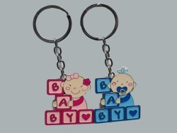 Baby Yazılı Mavi Anahtarlık - Thumbnail