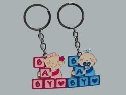 Baby Yazılı Pembe Anahtarlık - Thumbnail