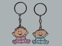Pijamalı Bebek Mavi Anahtarlık - Thumbnail