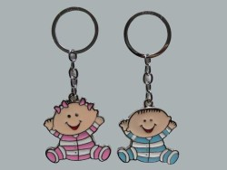 Pijamalı Bebek Pembe Anahtarlık - Thumbnail