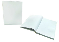 - Anı Defteri Düz Deri Kaplı 80 Sayfa Beyaz