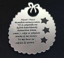- Nazar Duası Fiyonklu 2 mm Gümüş Pleksi