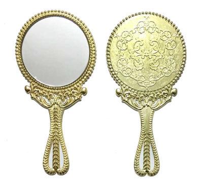 Metal Ayna Ağaç Desenli Altın
