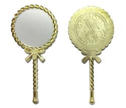 - Metal Ayna Burgu Desenli Altın