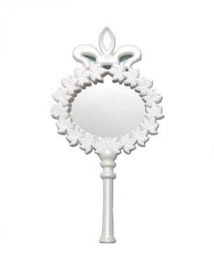 Çiçekli Plastik Beyaz Ayna