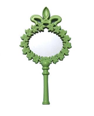 Çiçekli Plastik Yeşil Ayna