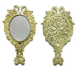 - Metal Ayna Çift Kuğu Desenli Altın
