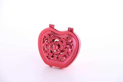 Kalpli Model Kapaklı Plastik Kırmızı Ayna