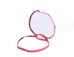 Kalpli Model Kapaklı Plastik Kırmızı Ayna - Thumbnail