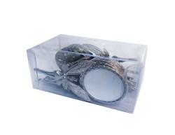 Melekli Metal Gümüş Ayna - Thumbnail