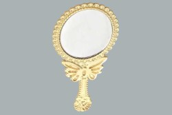 - Oval Kelebekli Altın Ayna