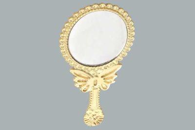 Oval Kelebekli Altın Ayna