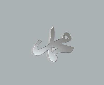 Ayet Muhammed Gümüş Pleksi