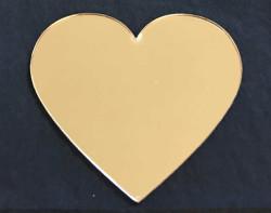 - Kalp Altın Pleksi 2mm 8x7 cm