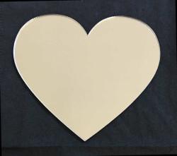 - Kalp Gümüş Pleksi 2mm 8x7 cm
