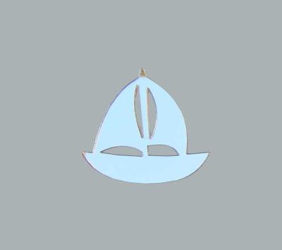 Yelkenli Gemi Gümüş Pleksi