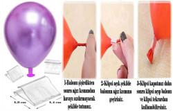 - Balon Bağlama Klipsi 50'li Pk.