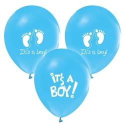 - It's A Boy Baskılı Mavi Balon 12 inç (25x30 cm) 100'lü Paket
