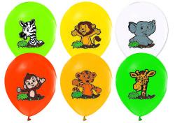 - Sevimli Hayvanlar Baskılı Balon 12 inç (25x30 cm) 100'lü Paket