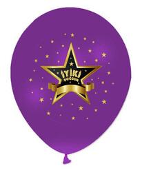 - Balon Baskılı 12 İnc İyiki Doğdun Yıldızlı P100-50