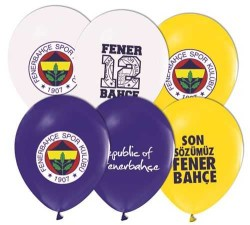 - Fenerbahçe Lisanslı Balon 12 inç (25x30 cm) 100'lü Paket