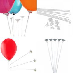 - Balon Çubuğu ve Huni Set 30 cm 100 Adet