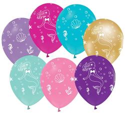 - Balon Deniz Kızı Çepeçevre Baskılı Pk:100 Kl:50