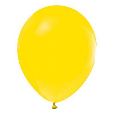 Sarı Düz Balon 12 inç (25x30 cm) 100'lü Paket