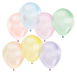 - Balon Düz 12 İnc Şeffaf Karışık Renli Pk:100 Kl:50
