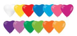- Kalp Şekilli Karışık Renkli Balon 12 inç (25x30 cm) 100'lü Paket