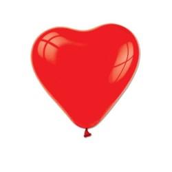 - Kalp Şekilli Kırmızı Balon 12 inç (25x30 cm) 16'lı Paket