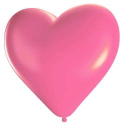- Kalp Şekilli Pembe Balon 12 inç (25x30 cm) 100'lü Paket