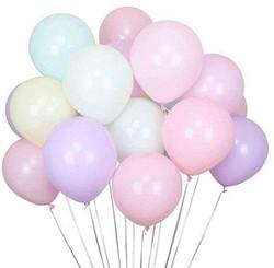 - Balon Düz Pastel Makaron 6 İnc Karışık Pk:100 Kl:100