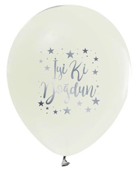 - Balon İyiki Doğdun Krom Beyaz Pk:100 Kl:50