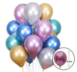 Krom Parlak Gümüş Balon 16 inç (30x40 cm) 50'li Paket - Thumbnail