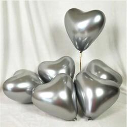 - Balon Krom Parlak 16 İnc Kalp Gümüş Pk:50 Kl:60