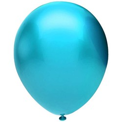 - Açık Mavi Metalik Balon 12 inç (25x30 cm) 100'lü Paket
