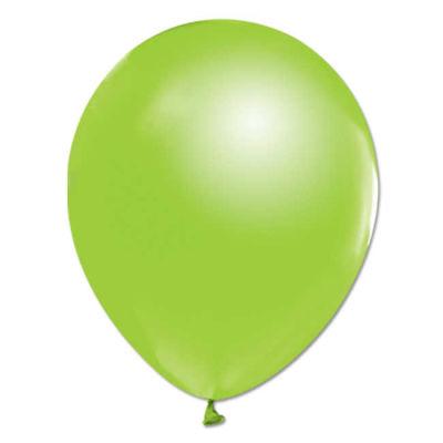 Açık Yeşil Metalik Balon 12 inç (25x30 cm) 100'lü Paket