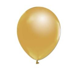 - Altın Metalik Balon 12 inç (25x30 cm) 100'lü Paket