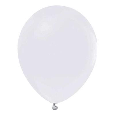 Beyaz Metalik Balon 12 inç (25x30 cm) 100'lü Paket